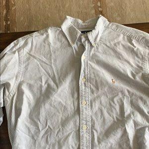 Men's Polo sear-sucker Button Down